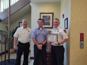 Firefighter Sullivan and Battalion Chief Brett Awards